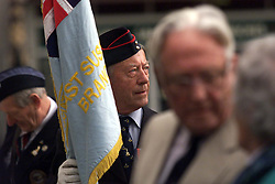 Standard Bearer Dr Ron Turner, during the 60th Anniversary service of The Commonwealth Air Plan, The St Clement Danes church, Strand, London, April 30, 2000. Photo by Andrew Parsons / i-images..