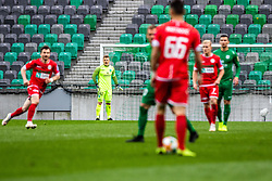Vidmar Nejc of NK Olimpija Ljubljana vs Martinovic Ilija of NK Aluminij during football match between NK Olimpija Ljubljana and NK Aluminij in Round #27 of Prva liga Telekom Slovenije 2018/19, on April 14th, 2019 in Stadium Stozice, Slovenia Photo by Matic Ritonja / Sportida