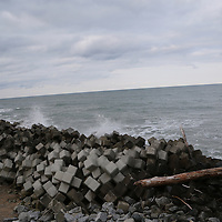 February,28.2016 Namie,Fukushima prefecture , new  Tsunami Dam and broken waves stones are building along Fukushima Coast near the the nuclear until Namie and Minami Soma. On Monday 29, three former executives were indicted by criminal charge to not made higher Tsunami dam even they know the  risk of  Tsunami  could occur in that region, Pierre Boutier.
