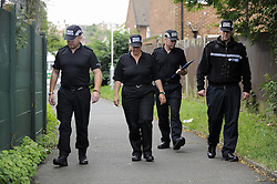 © Licensed to London News Pictures. 07/08/2012 .Police searching for missing 12 year old girl Tia Sharp in New Addington, Croydon on August 7, 2012. 12 year old Tia Sharp has been missing from the Lindens on The Fieldway Estate in New Addington, Croydon since Friday last week. Photo credit : Grant Falvey/LNP