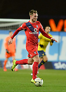 York City midfielder James Berrett during the Sky Bet League 2 match between Oxford United and York City at the Kassam Stadium, Oxford, England on 1 March 2016. Photo by Adam Rivers.