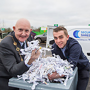 17.01.17<br /> A special event is taking place to allow businesses and householders throughout Limerick drop off confidential documents to be shredded free of charge.<br /> <br /> Pictured at the launch of the event at Mungret Recycling Centre were, Mayor of the City and County of Limerick, Cllr Kieran O&rsquo;Hanlon, and Albert Kelly, Security in Shredding.<br /> <br /> <br /> <br /> <br /> <br /> The one-day event is at the Mungret Recycling Centre on Saturday 28 January 2017 from 11.00am until 3.30pm.<br /> Limerick City and County Council in conjunction with Security in Shredding, a company that offers confidential document paper shredding services in Ireland, are facilitating the 'Free Shred Event' to mark European Data Protection Day 2017 and promote good waste management practices. Picture: Alan Place