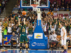 Huntington guard Tavian Dunn-Martin (11) shoots a free throw against Parkersburg South during the Class AAA championship game at the Charleston Civic Center.