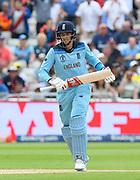 Joe Root of England batting during the ICC Cricket World Cup 2019 semi final match between Australia and England at Edgbaston, Birmingham, United Kingdom on 11 July 2019.