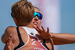 23-08-2019 NED; DELA NK Beach Volleyball Qualification, Scheveningen<br /> First day NK Beachvolleyball / Wies Bekhuis, Wies van Solkema