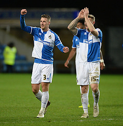Lee Brown of Bristol Rovers celebrates at full time. - Mandatory byline: Alex James/JMP - 17/01/2016 - FOOTBALL - The Kassam Stadium - Oxford, England - Oxford United v Bristol Rovers - Sky Bet League Two