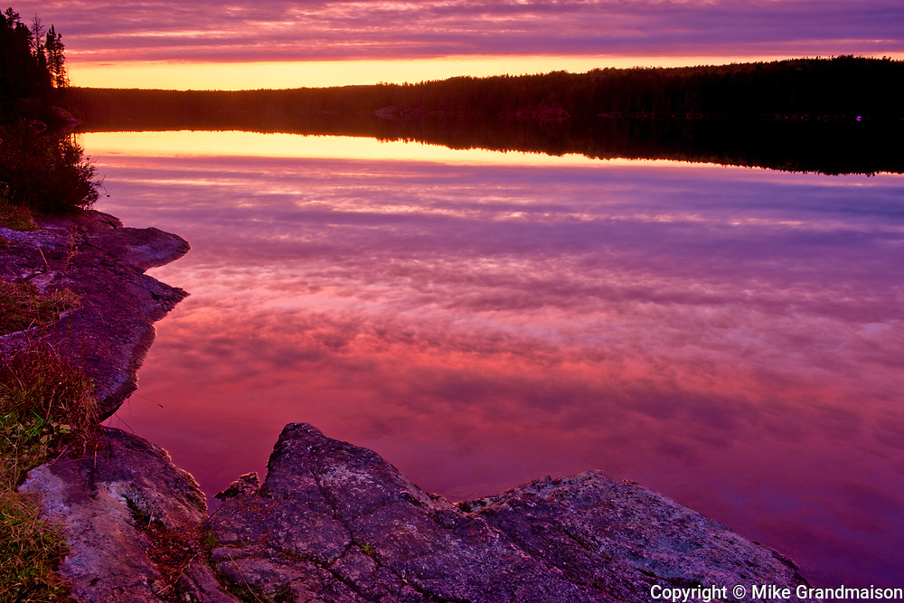Sunset on Graphic Lake<br />