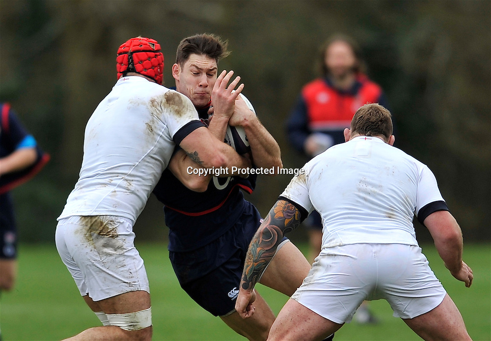 Bagshot, England. Ollie Devoto of England during the England training session held at Pennyhill Park on February 4, 2016 in Bagshot, England. Photo Michael Paler / Photosport.nz