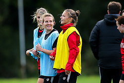 Frankie Brown and Loren Dykes of Bristol City Women during training at Failand - Mandatory by-line: Robbie Stephenson/JMP - 26/09/2019 - FOOTBALL - Failand Training Ground - Bristol, England - Bristol City Women Training