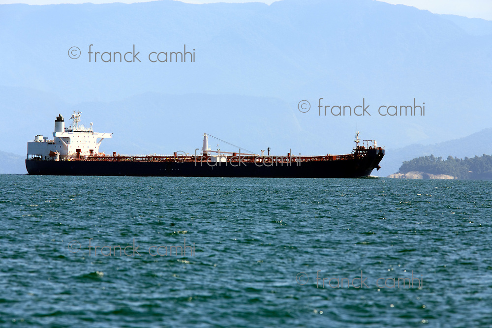super tanker in ilha grande of state of rio de janeiro in angra dos reis in brazil