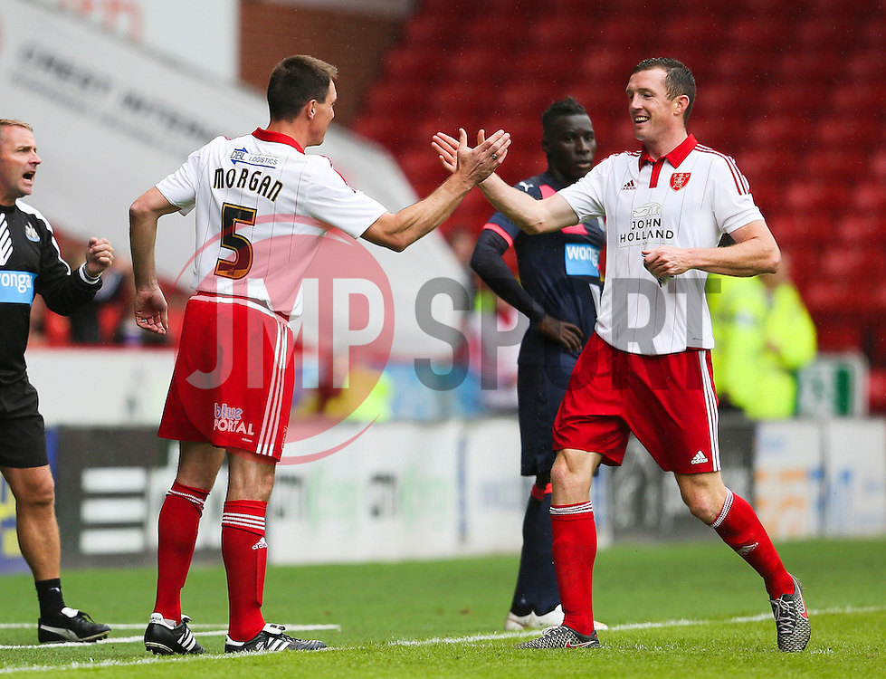 Former player Chris Morgan of Sheffield United makes a cameo appearance during his testimonial match - Mandatory by-line: Matt McNulty/JMP - 26/07/2015 - SPORT - FOOTBALL - Sheffield,England - Bramall Lane - Sheffield United v Newcastle United - Pre-Season Friendly