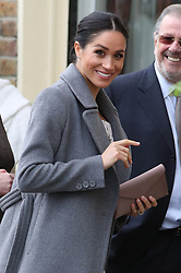 The Duchess of Sussex arrives for a visit to the Royal Variety CharityÕs residential nursing and care home, Brinsworth House, in Twickenham, west London.