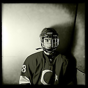Ice Men Cometh… Gokalp Solak, 17, Turkey..An iPhone portrait series on young men competing in the 2012 IIHF Ice Hockey World Championships Division 3. The tournament  was contested by countries New Zealand, Iceland, China, Bulgaria and Turkey at Dunedin Ice Stadium. Dunedin, Otago, New Zealand. 17th January 2012. Photo Tim Clayton