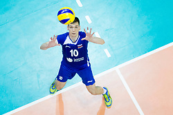 Jernej Detela of Slovenia during volleyball match between national teams of Slovenia and Netherlands of 2018 CEV volleyball Godlen European League, on June 6, 2018 in Arena Bonifika, Koper, Slovenia. Photo by Urban Urbanc / Sportida