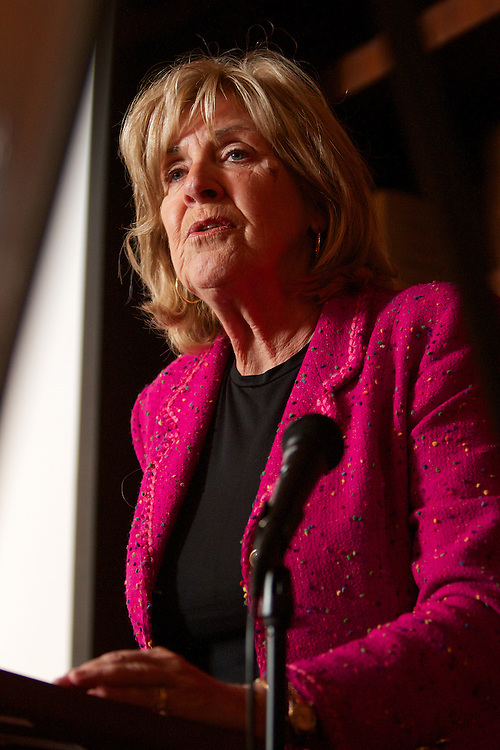 Sally Armstrong, Canadian jounalist and member of the UN Women's Commision, speaks at the Jeanne Sauve Address on November 17th, 2011.