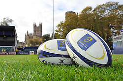 A general view of European Rugby Champions Cup branded balls - Photo mandatory by-line: Patrick Khachfe/JMP - Mobile: 07966 386802 25/10/2014 - SPORT - RUGBY UNION - Bath - The Recreation Ground - Bath Rugby v Toulouse - European Rugby Champions Cup