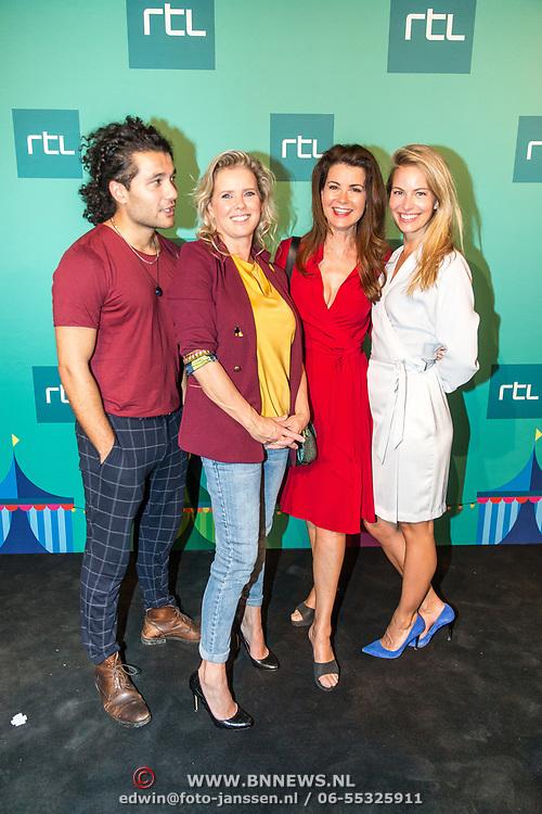 NLD/Halfweg20190829 - Seizoenspresentatie RTL 2019 / 2020,Melissa Drost en Alkan Coklu en Babette van Veen met Caroline de Bruijn