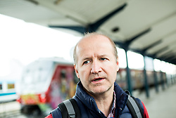 Nik Zupancic, head coach during departure to Budapest of Slovenian Ice Hockey National Team, on April 17, 2017 in Railway station, Ljubljana, Slovenia. Photo by Vid Ponikvar / Sportida