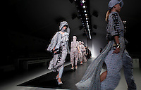 London 16 September 2013<br /> KTZ Catwalk at London Fashion Week<br /> DESIGNER NAMES: Marjan Pejoski (Creative Director) and Koji Maruyama (Head of Design).<br /> <br /> BACKGROUND: Following the success of Marjan Pejoski&rsquo;s own brand, KTZ arose mutually by himself and Sasko Bezovski &ndash; Pejoski studied fashion design at London&rsquo;s Central St Martins University. It was shortly after the launch of KTZ that Maruyama was made head of design by Pejoski.<br /> <br /> After touring the world as a renowned DJ throughout the 1980&rsquo;s, Bezovski generated the umbrella of retail stores &lsquo;Kokon to Zai&rsquo; in London and Paris, combining the passion for music and fashion that has birthed a renowned cult hybrid since opening of business in 1996 as a music store; a space dedicated to all creative artists. Bezovski manoeuvres operational, commercial and financial areas throughout Kokon To Zai.<br /> <br /> Sasko Bezovski<br /> sasko@k-t-z.co.uk<br /> Tel: +44 (0) 20 7434 1316<br /> Mobile: +44 (0) 7876 716066<br /> <br /> Press Contact<br /> <br /> Kusi Kubi<br /> press@k-t-z.co.uk<br /> Tel: +44 (0) 20 8960 3736