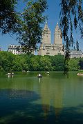The Lake and San Remo apartments, Central Park, Manhattan,New York,U.S.A.