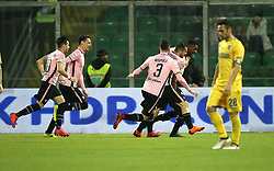 March 10, 2018 - Palermo, Sicily, Italy - Eddy Gnahore' of Palermo celebrates after scoring the opening goal uring the serie B match between US Citta di Palermo and Frosinone at Stadio Renzo Barbera on March 10, 2018 in Palermo, Italy. (Credit Image: © Gabriele Maricchiolo/NurPhoto via ZUMA Press)