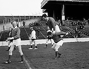 Horseplay at a charity football match at Croke Park between TDs and Senators.<br />