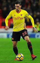 Jose Holebas of Watford in action - Mandatory by-line: Nizaam Jones/JMP - 31/01/2018 - FOOTBALL - Bet365 Stadium - Stoke-on-Trent, England - Stoke City v Watford - Premier League