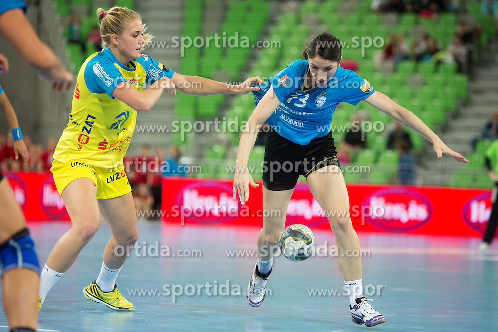 Mirjeta Bajramoska of RK Krim Mercator during handball match between RK Krim Mercator (SLO) and HC Leipzig (GER) in 6th Round of Women's EHF Champions League 2014/15, on November 21, 2014 in Arena Stozice, Ljubljana, Slovenia. Photo by Urban Urbanc / Sportida