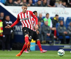 Southampton's Toby Alderweireld passes - Photo mandatory by-line: Robbie Stephenson/JMP - Mobile: 07966 386802 - 09/05/2015 - SPORT - Football - Leicester - King Power Stadium - Leicester City v Southampton - Barclays Premier League