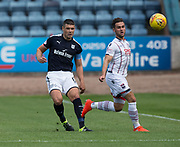 August 5th 2017, Dens Park, Dundee, Scotland; Scottish Premiership; Dundee versus Ross County; Dundee's Darren O'Dea and Ross County's Alex Schalk