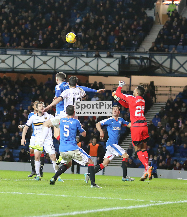 Wes Foderingham punches clear  during the Rangers v Dumbarton  Scottish Championship  1 December 2015 <br /> <br /> (c) Andy Scott | SportPix.org.uk