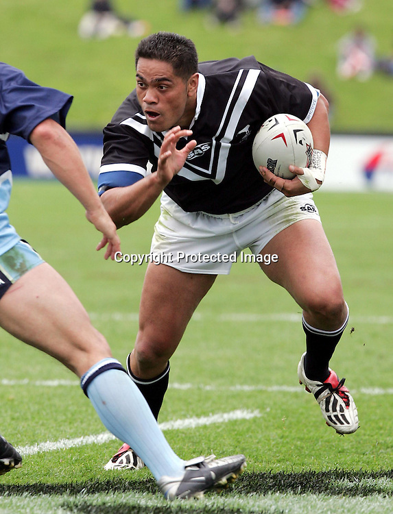 Ricky Henry during the Rugby League match between New Zealand 'A' and the Jim Beam Cup Team at North Harbour Stadium, Auckland, New Zealand on Saturday 16 October, 2004.<br />