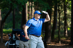 Pittsburgh head football coach Pat Narduzzi watches his ball during the Chick-fil-A Peach Bowl Challenge at the Ritz Carlton Reynolds, Lake Oconee, on Tuesday, April 30, 2019, in Greensboro, GA. (Paul Abell via Abell Images for Chick-fil-A Peach Bowl Challenge)
