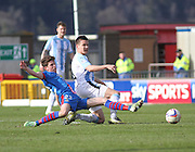 Dundee's Thomas Konrad and Inverness Caley Thistle's Ryan Christie - Inverness v Dundee  - SPFL Premiership at the Caledonian Stadium<br /> <br />  - © David Young - www.davidyoungphoto.co.uk - email: davidyoungphoto@gmail.com