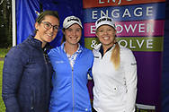 Carla Reynolds, Leona Maguire (IRL) and Stephanie Meadow (NIR)at the Golf4Girls4Life festival at the ISPS Handa World Invitational, Galgorm Castle Golf Club, Ballymena, Antrim, Northern Ireland. 14/08/2019.<br /> Picture Fran Caffrey / Golffile.ie<br /> <br /> All photo usage must carry mandatory copyright credit (© Golffile | Fran Caffrey)
