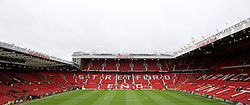 MANCHESTER, ENGLAND - Sunday, December 14, 2014: A general view of Manchester United's Old Trafford stadium before the Premier League match. (Pic by David Rawcliffe/Propaganda)