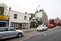 © Licensed to London News Pictures. 30/04/2019. London, UK. General view of Muswell Hill Broadway in Haringey, north London where a 18 years old man was found suffering from knife wounds shortly after 9.20pm on Monday 29 April 2019. The victim was treated at the scene before being rushed to hospital. Photo credit: Dinendra Haria/LNP