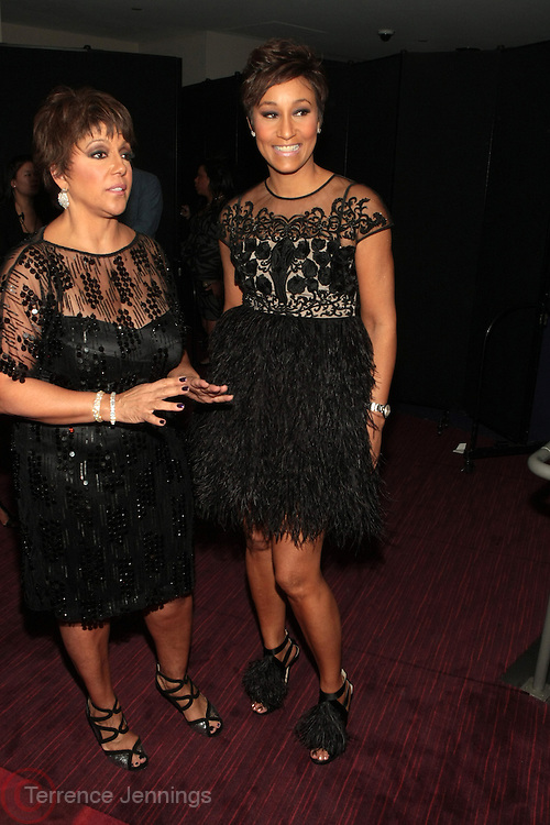 November 2, 2012- New York, NY: (L-R) Linda Johnson Rice, Chair, Johnson Publishing Company and Desiree Rogers, CEO, Johnson Publishing Company,at the Ebony Power 100 Gala Presented by Nationwide held at Jazz at Lincoln Center on November 2, 2012 in New York City. The EBONY Power 100 Gala Presented by Nationwide salutes the country's most influential African Americans. (Terrence Jennings)
