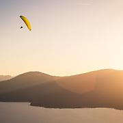 Paragliding at Day Dreams above Kings Beach and Lake Tahoe, CA.