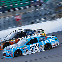 May 13, 2017 - Kansas City, Kansas, USA: Matt DiBendetto (32) battles for position during the Go Bowling 400 at Kansas Speedway in Kansas City, Kansas.