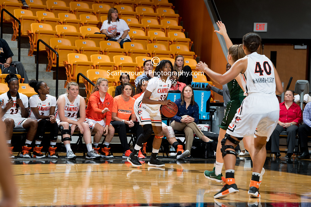 BUIES CREEK, NC - November 19th, 2017 - Campbell Camels and USC Upstate at Gilbert Craig Gore Arena in Buies Creek, NC. Photo By Bennett Scarborough