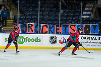 KELOWNA, CANADA - MARCH 16: A fan sign on the last regular season game  on March 16, 2019 at Prospera Place in Kelowna, British Columbia, Canada.  (Photo by Marissa Baecker/Shoot the Breeze)