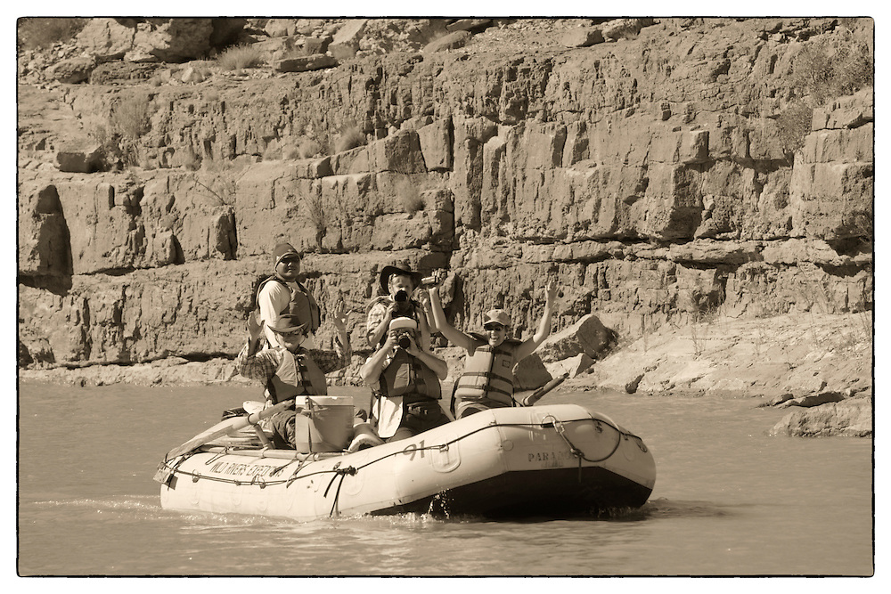 Rafting on San Juan River near Bluff, Southern Utah, USA