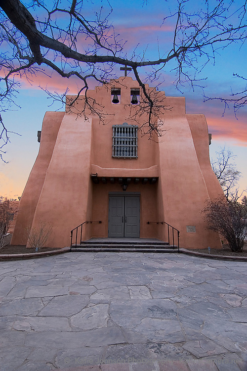 Historic First Presbyterian Church on Grant Avenue, Santa Fe, NM