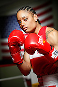 6/24/11 2:49:03 PM -- Colorado Springs, CO. -- A portrait of U.S. Olympic lightweight boxer Queen Underwood, 27, of Seattle, Wash. who will be competing for her fifth title. She began boxing in 2003 and was the 2009 Continental Champion and the 2010 USA Boxing National Champion. She is considered a likely favorite to medal at the 2012 Summer Olympics in London as women's boxing makes its debut as an Olympic sport. -- ...Photo by Marc Piscotty, Freelance.