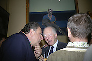 Jean Pigozzi , Lord Rothschild and Edward Heyward, Party for Jean Pigozzi hosted by Ivor Braka to thank him for the loan exhibition 'Popular Painting' from Kinshasa'  at Tate Modern. Cadogan sq. London. 29 May 2007.  -DO NOT ARCHIVE-© Copyright Photograph by Dafydd Jones. 248 Clapham Rd. London SW9 0PZ. Tel 0207 820 0771. www.dafjones.com.