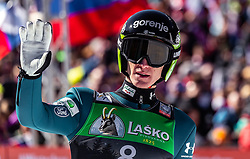 24.03.2019, Planica, Ratece, SLO, FIS Weltcup Ski Sprung, Skiflug, Einzelbewerb, Finale, im Bild Peter Prevc (SLO) // Peter Prevc of Slovenia during the individual competition of the FIS Ski Flying World Cup Final 2019. Planica in Ratece, Slovenia on 2019/03/24. EXPA Pictures © 2019, PhotoCredit: EXPA/ JFK
