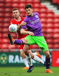 Milan Djuric of Bristol City challenges Ben Gibson of Middlesbrough - Mandatory by-line: Matt McNulty/JMP - 14/04/2018 - FOOTBALL - Riverside Stadium - Middlesbrough, England - Middlesbrough v Bristol City - Sky Bet Championship
