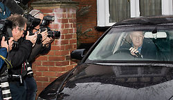 © Licensed to London News Pictures. 21/12/2017. London, UK. Damian Green is photographed as leaves home. He resigned as first minister yesterday. Mr Green has been under investigation after pornographic images were found on his Parliamentary computer and allegations of inappropriate advances towards a female activist. London, UK. Photo credit: Peter Macdiarmid/LNP