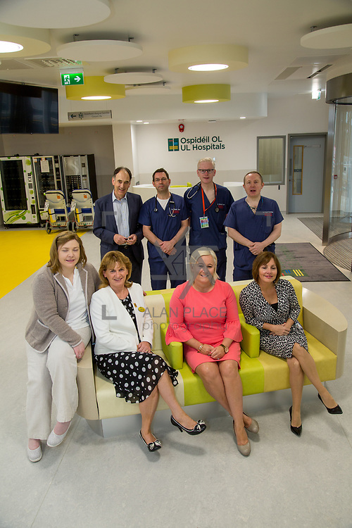 29.05. 2017.                                             <br /> IRELAND&rsquo;S largest and most advanced Emergency Department has opened this Monday at University Hospital Limerick.<br /> <br /> Pictured at the new Emergency Department were standing, Prof. Paul Burke, Dr. Gareth Quin, Consultant in Emergency Medicine, Dr. Damien Ryan,  Consultant in Emergency Medicine and Dr. Fergal Cummins, Consultant in Emergency Medicine, seated, Josephine Hynes, HR Director, Margaret Gleeson, Colette Cowan, CEO and Noreen Spillane.<br /> <br /> <br /> A &euro;24 million project (development and equipment costs), the ED spans 3,850 square metres of floor space, over three times the size of the old department. In 2016, UHL had the busiest ED in the country, with over 64,000 attendances. Picture: Alan Place